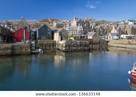 STROMNESS, ORKNEY - MARCH 27: Stromness, Orkney's second most populous town on March 27, 2013 in Stromness.