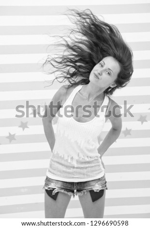 strong and healthy hair. sexy woman with beautiful hairstyle. Love is in the hair. Hairdressing is our passion. Funky beauty. Beauty and fashion concept.