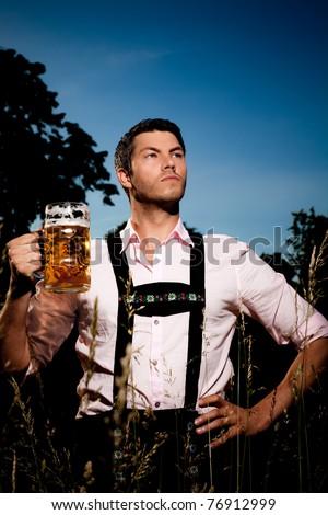 strong german beer outdoor oktoberdest