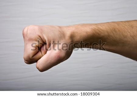 Strong man fist hand