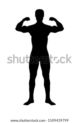 Strong Man make fitness, Strong body, Strong male show muscle