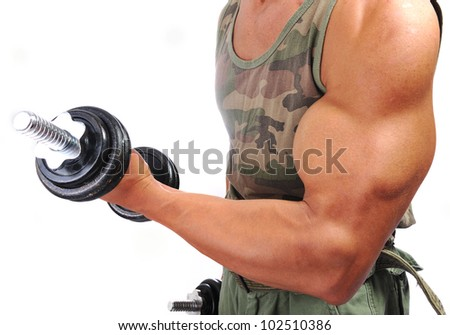 Strong man with a helthy body