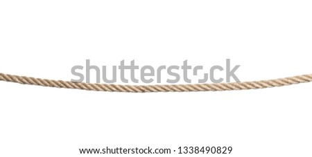 Strong nautical cotton rope on white background