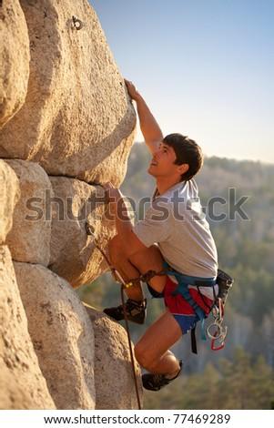 Strong rock-climber