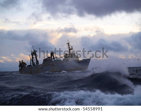 Strong storm in Norwegian Sea