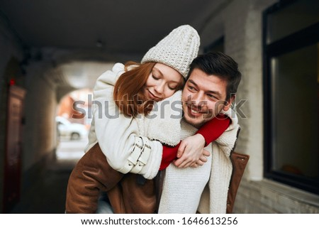 strong warm feeling between two young people, interest concept, affection, friendship. close up photo