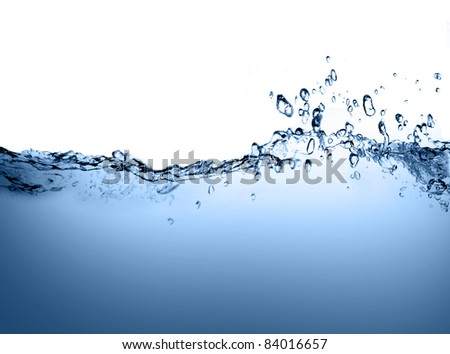 strong water splashing