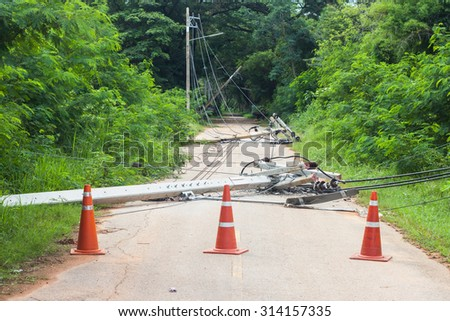 strong winds bringing down power lines to blame.