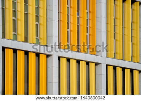 Structural details of the modern industrial building. stock photo