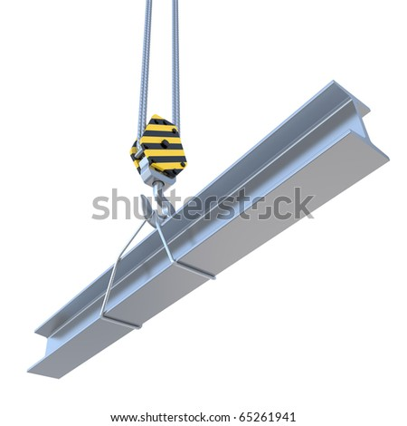 structural steel with the hook and the steel rope