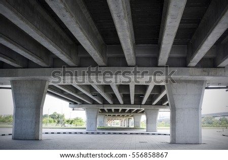 Structure Design Under the Bridge