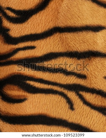 Structure of a skin of a tiger, striped background - stock photo