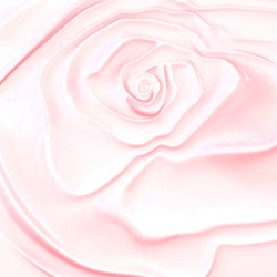 Structure of abstract pink rose flower pearl wavy cream silk.3D image of beautiful luxury wallpaper texture with swirls.Cover banner template for your brand.Wedding modern floral romantic background.