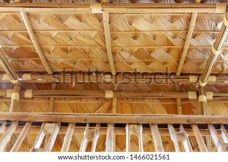 Structure of bamboo huts. Bamboo hut. Bamboo huts for living.  #1466021561