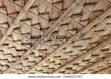 Structure of bamboo huts. Bamboo hut. Bamboo huts for living.  #1466021567