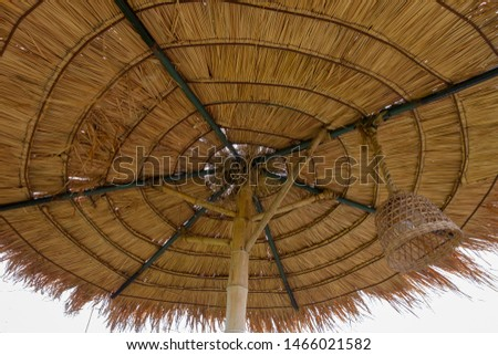 Structure of bamboo huts. Bamboo hut. Bamboo huts for living.  #1466021582