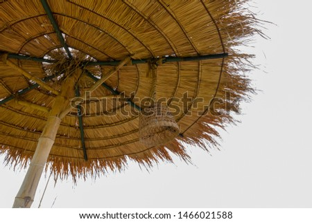 Structure of bamboo huts. Bamboo hut. Bamboo huts for living.  #1466021588