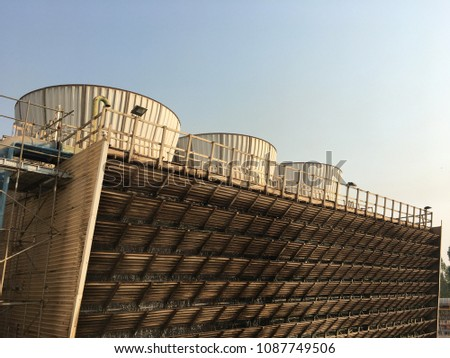 Water pump station for cooling tower in power plant  Images and