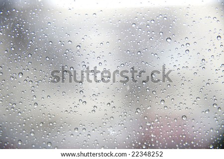 Structure of drops of water close-up #22348252