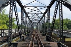 structure of metal railway bridge,Old railway bridge