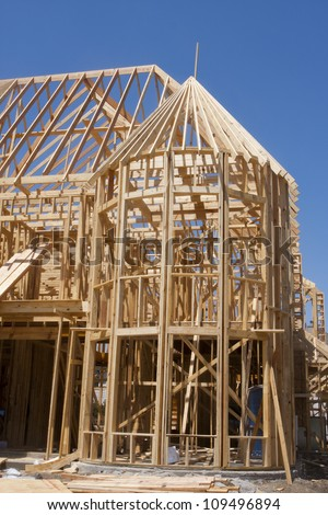 Structure of wood framed home