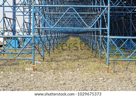 Structure, steel structures, metal structures. #1029675373
