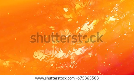 structured fractal background with fractal pattern and motives of abstracted natural forestscapes. Fire effet.
