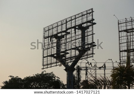 structures  hoardings of advertisements and banners in Hyderabad India