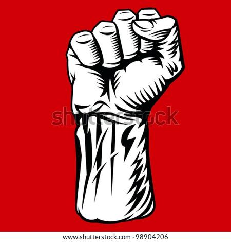 Struggle Hand Symbol. Rasterized Version - stock photo