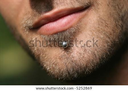 Stubbled man - stock photo