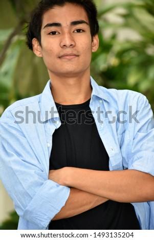 Stubborn Handsome Filipino Adult Male #1493135204