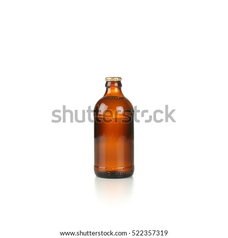 Stubby beer bottle unopened with no label #522357319