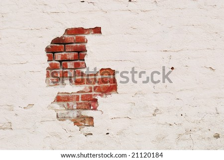 stucco brick wall