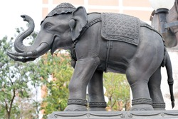 Stucco elephant sculpture