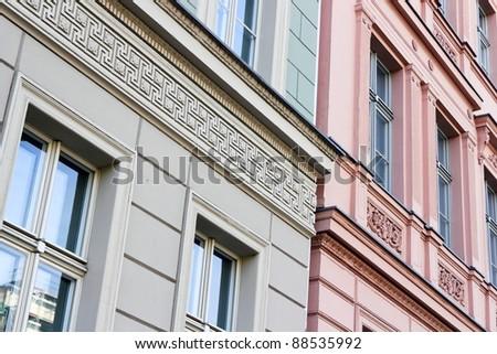 Stucco Facades Stock Photo 88535992 : Shutterstock