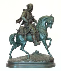 Stucco, Khan, Horse Riding on white background