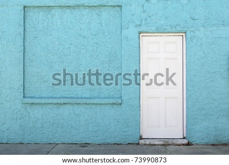 stucco wall & door