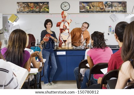 Student Giving Presentation in Science Class