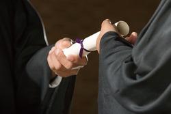 Student graduation ceremony