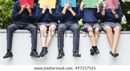 Student Study Uniform Book College Book Teen Concept