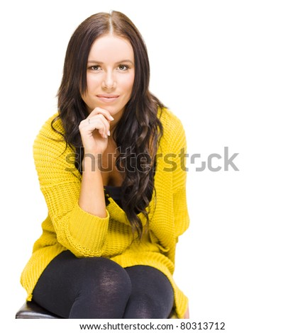 Student University Lady Wearing Yellow Graduate Jersey Deep Thought And Concentration When Thinking About Potential Job Opportunities That Await Ahead