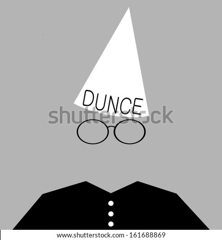 Student wearing dunce cap as punishment stock photo for Dunce hat template