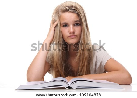Student With Her Books