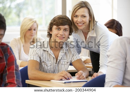 Students and tutor in class