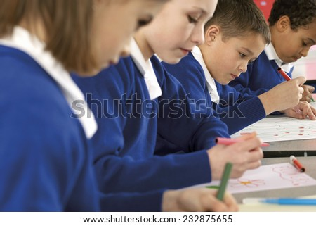 Students Drawing - stock photo