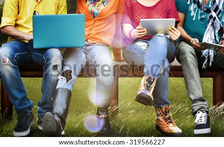Students Education Social Media Laptop Tablet