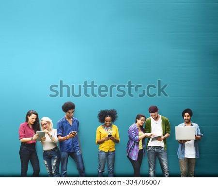 Students Learning Education Social Media Technology - Shutterstock ID 334786007