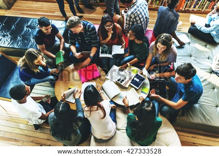 Students Library Campus Education Knowledge Concept