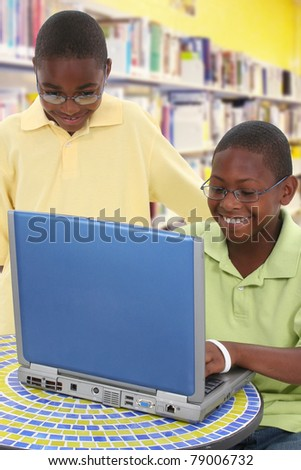 Students on Library Computer