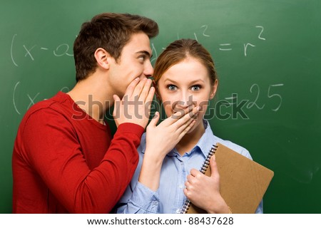 Students sharing secrets